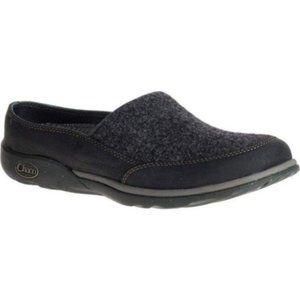 CHACO Quinn Shoe Wool Leather Clog Women's 6.5 EUC